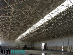 Space frame false ceiling